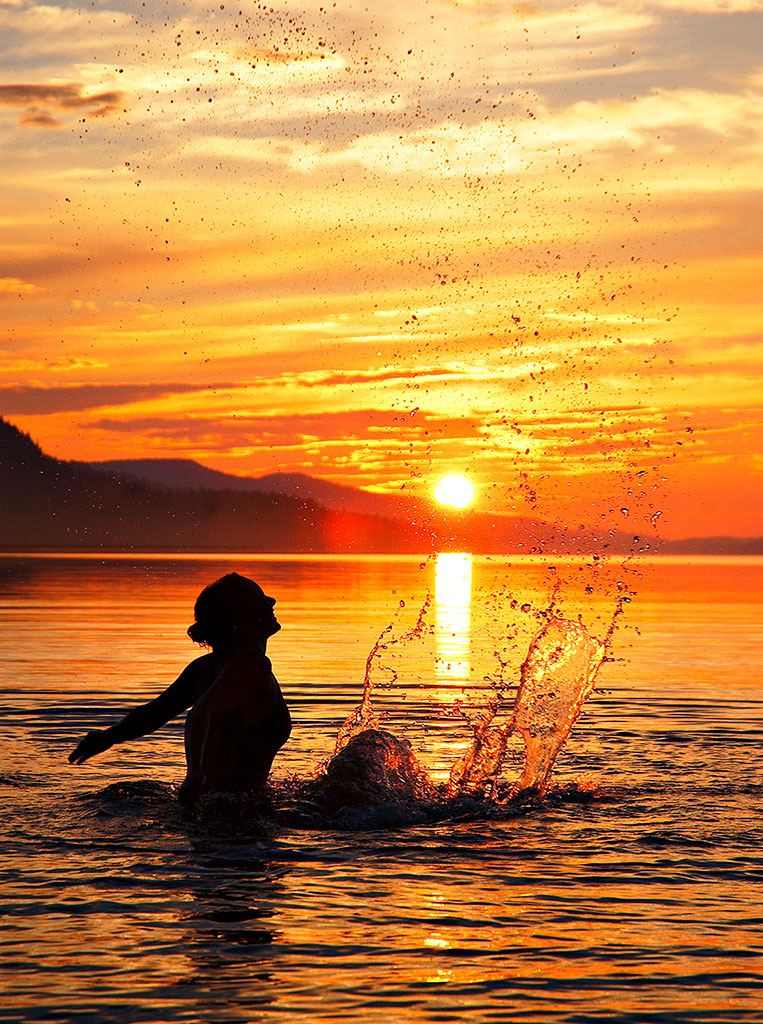 Midnight sun swimming in Finland [Photo: Krista Keltanen]
